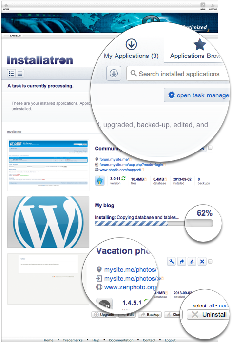 Installatron Wordpress