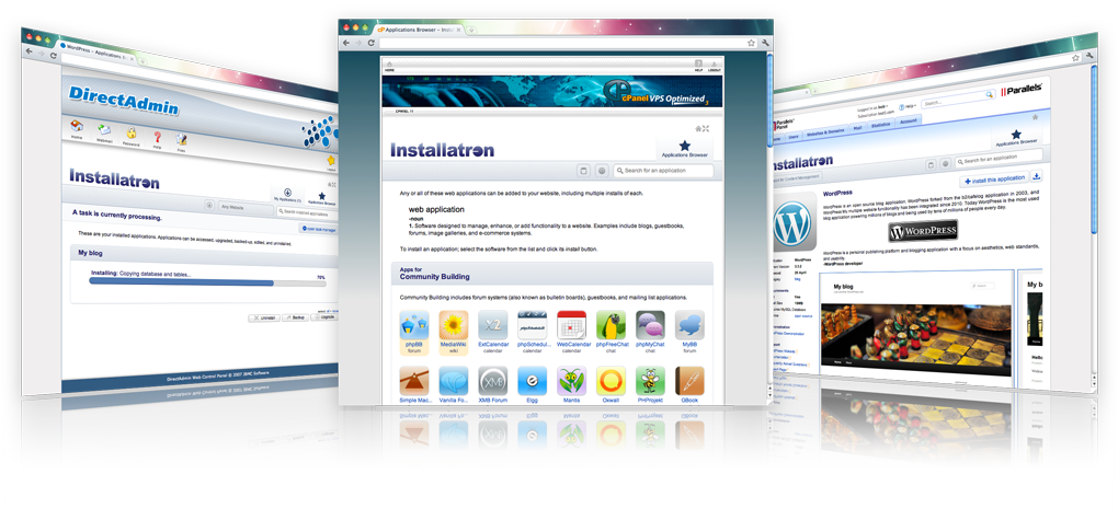 Installatron WordPress Joomla