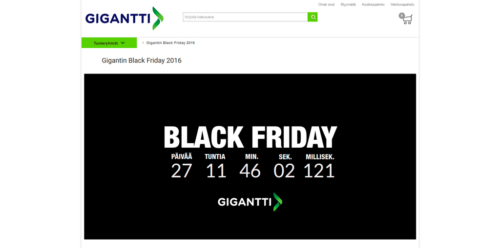 Gigantti Black Friday