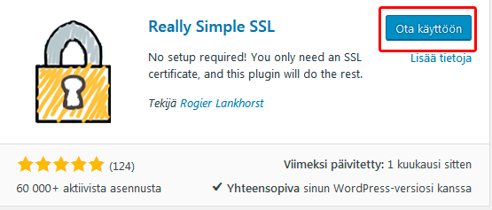 wordpress really simple ssl asennus