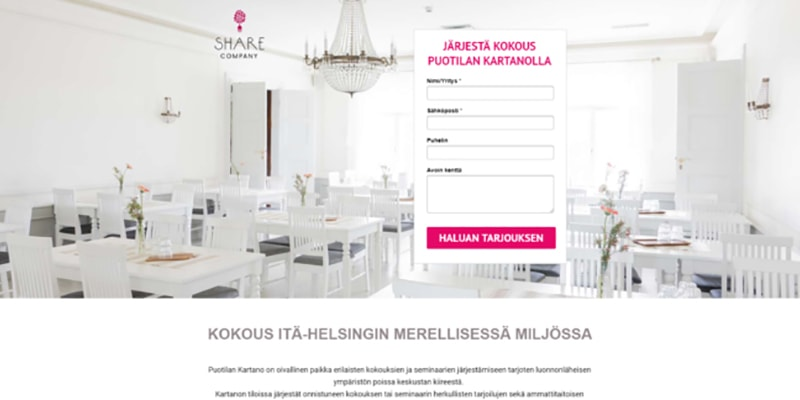 Share landing page