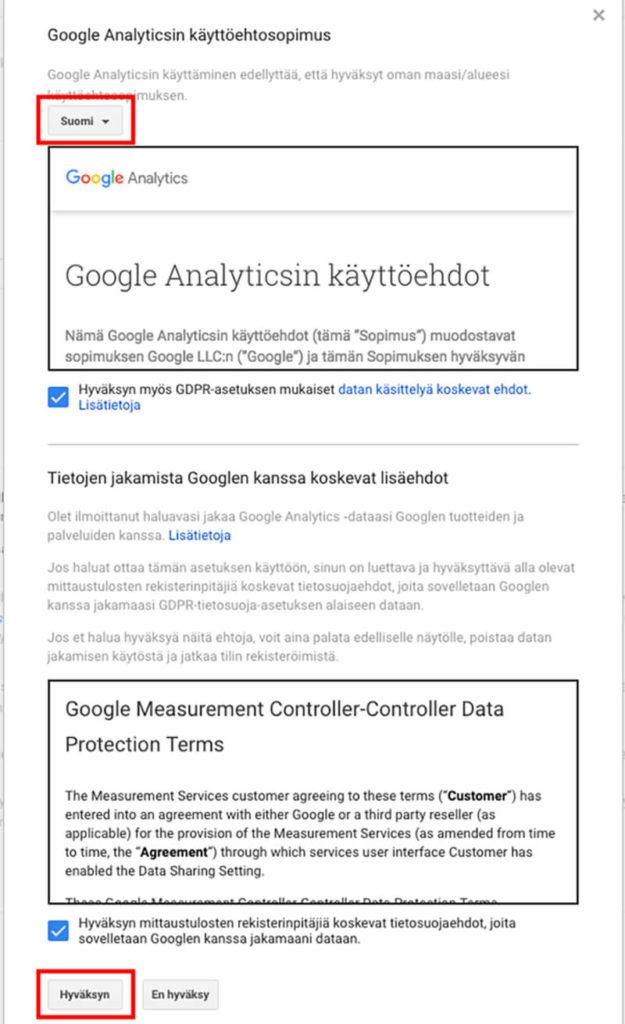 Google-käyttöehdot